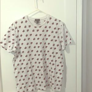 Forever 21 repeated rose shirt